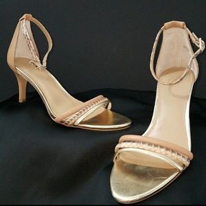 Ann Taylor Ankle Strap Heeled Sandals